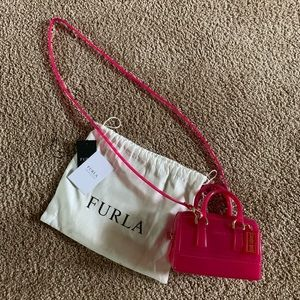 Furla mini candy bag hot pink